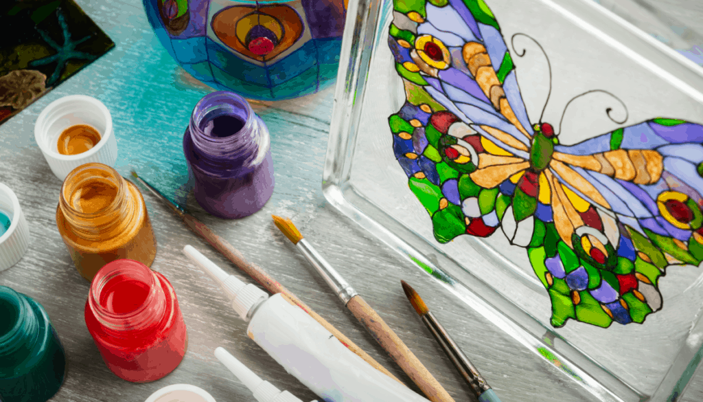 Can you use acrylic paint on glass?