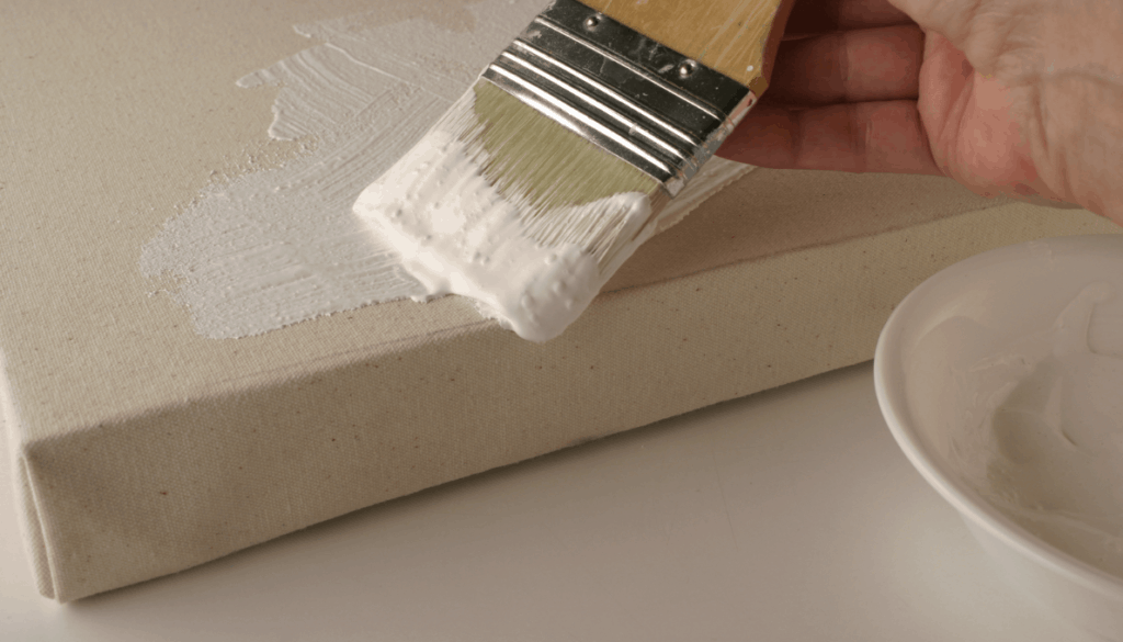 How to prime a canvas with acrylic gesso?