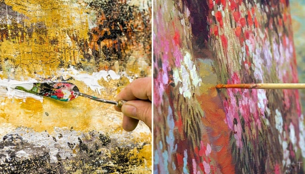How to tell difference between Acrylic and Oil painting