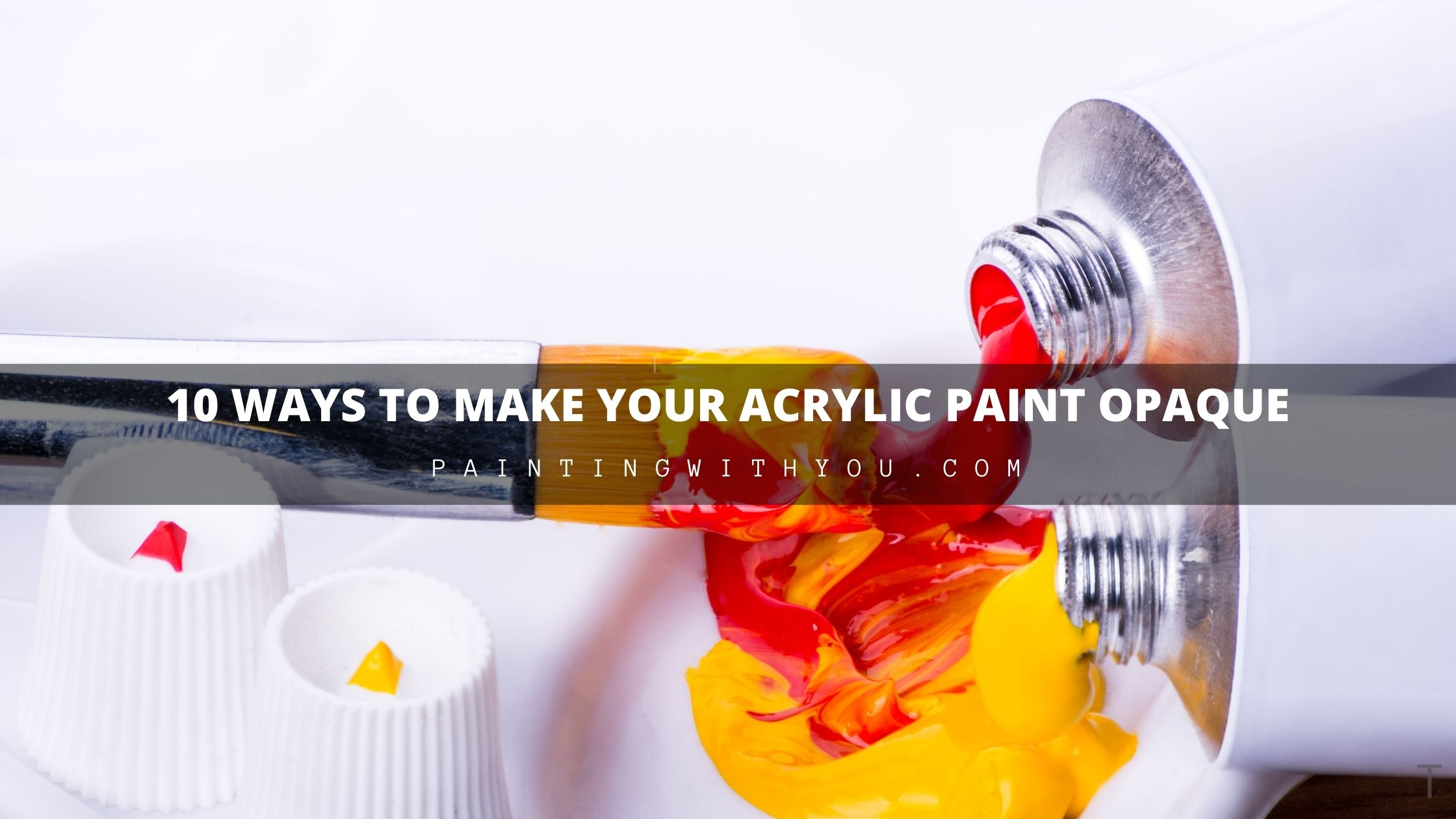 different ways make your Acrylic paint Opaque